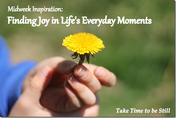 Midweek Inspiration: Finding Joy in Life's Everday Moments | Taketimetobestill.com