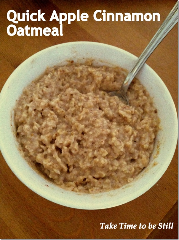 quick apple cinnamon oatmeal-001